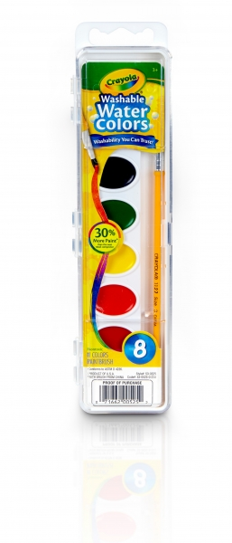 53 0525 0 314 Washable Watercolors 8ct F1